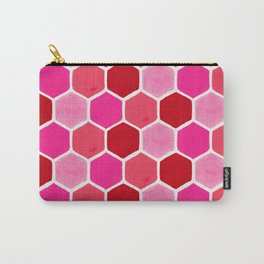 Hexagon Honeycomb Pattern – Valentine Palette Carry-All Pouch