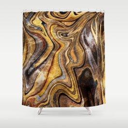 Tiger's Eye gemstone pattern Shower Curtain