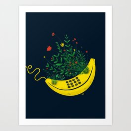Overgrown 'Nana Phone Art Print