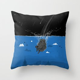 Meteor's Pool Party Throw Pillow