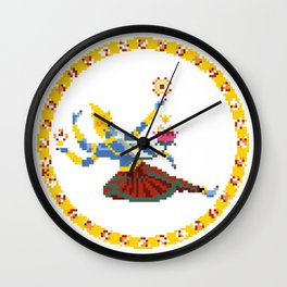 Cosmic Dreamer - Pixel Art Wall Clock