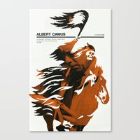 camus Canvas Prints featuring Albert Camus print by Adam Juresko