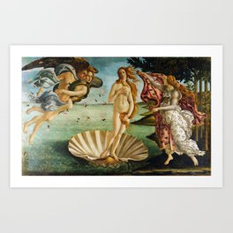 The Birth of Venus by Sandro Botticelli (1485) Kunstdrucke