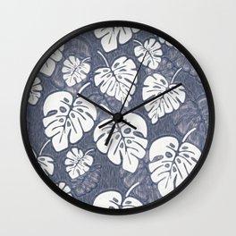Leaves Tree Palm Pattern 4 Wall Clock
