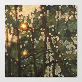 Two Suns in the Sunset Canvas Print