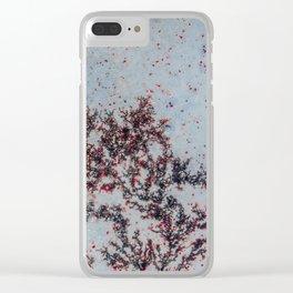 Sakura Moss Agate Clear iPhone Case