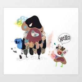 SayHello Art Print