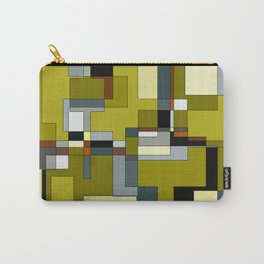 Patchwork in Olives Carry-All Pouch