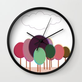 Free forest Wall Clock