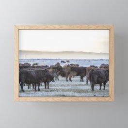 Good Morning Cows Framed Mini Art Print