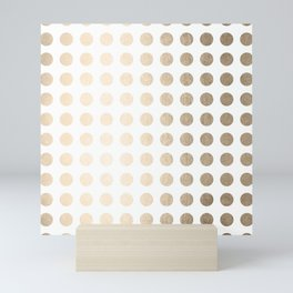 Simply Polka Dots in White Gold Sands Mini Art Print