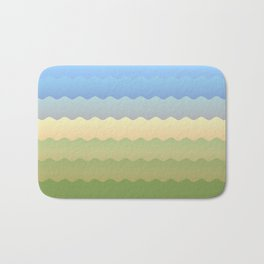 Waves 3 Bath Mat