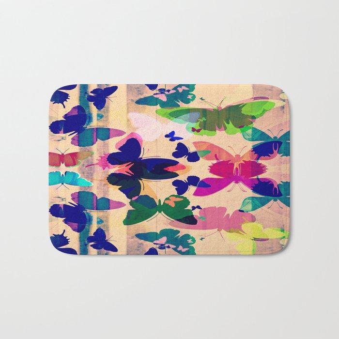 Butterflies on board Bath Mat