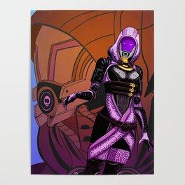 Mass Effect - Tali vas Normandy Poster