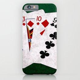 Poker Hand Straight King Queen Jack Ten Nine iPhone Case