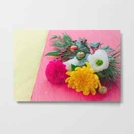 The Decoration Flower Of New Year Metal Print