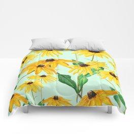 yellow sun choke flower 2 Comforters