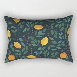 Lemon watercolor vintage pattern Rectangular Pillow