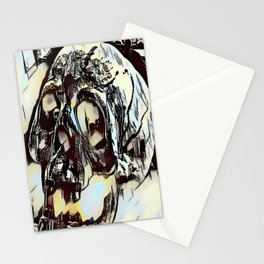 Metal Paper Skull Stationery Cards