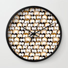 corgi butts Wall Clock