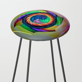 Abstract in perfection 121 Counter Stool