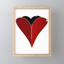 Zipper Heart Framed Mini Art Print