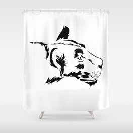 Curious lioness Shower Curtain