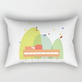 architecture - le corbusier Rectangular Pillow