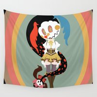 madoka Wall Tapestries featuring Chomp, CHOMP! by Katy Marie Ketter-Franklin
