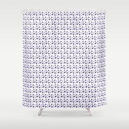 Purple Heart Pattern Shower Curtain