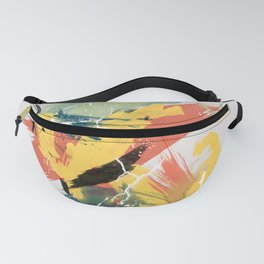Intuitive Conversations, Abstract Mid Century Colors Fanny Pack