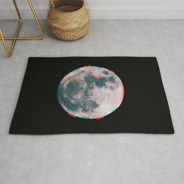 Glitchy Moon Rug