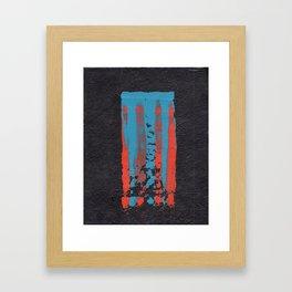 tattered remnants. Framed Art Print