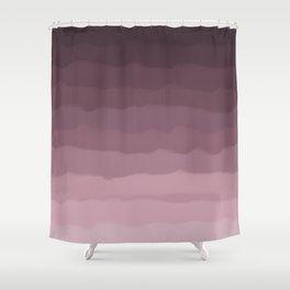 Gray Heather Fluff Gradient Shower Curtain