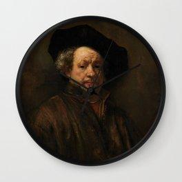 Rembrandt van Rijn - Self-portrait Wall Clock