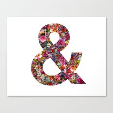 & ampersand print Canvas Print
