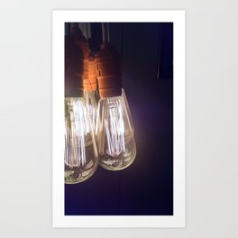 Luminescence-Edison Light Bulb Art Print