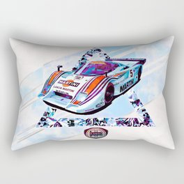 "Lancia LC2 ""Lancia-Ferrari""// Le Mans Race Cars Rectangular Pillow"