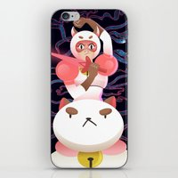 puppycat iPhone & iPod Skins featuring Bee and Puppycat by Terry Blas