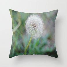 Lone Dandelion Throw Pillow