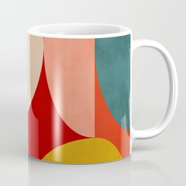 shapes of red mid century art Coffee Mug