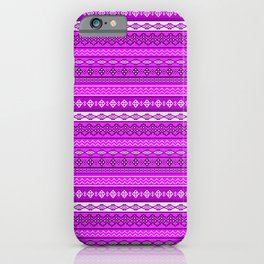 Modern Native Navajo Ethnic Tribal V.02 - Fuchsia Color iPhone Case