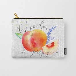Les Pêches de Perpignan—French Country Peaches from Provence Carry-All Pouch