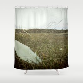 Vintage Feather in the Grass Shower Curtain