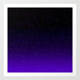 Black/Purple Gradient (with sparkles) Art Print