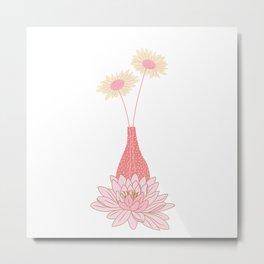 pink vas Metal Print