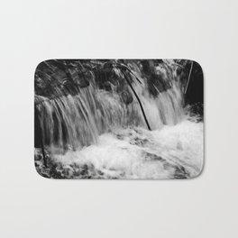 Black and White Falls Bath Mat