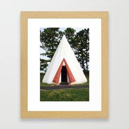 Wigwam Motel Cave City Kentucky Framed Art Print