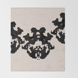 Black Rorschach inkblot Throw Blanket