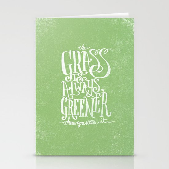 THE GRASS IS ALWAYS GREENER Stationery Cards